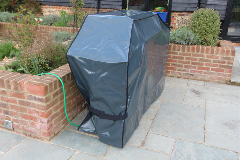 Kover-it Anthrocite BBQ Cover with velcro straps