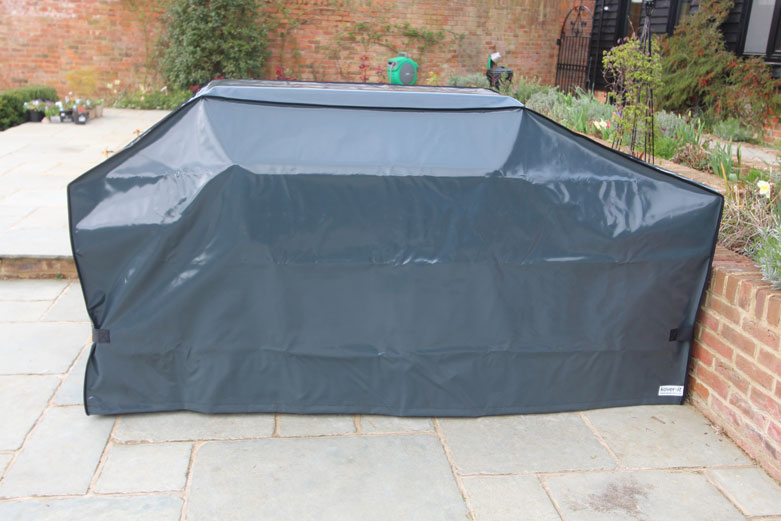 Kover-it PVC-ST anthracite grey BBQ Cover with velcro straps