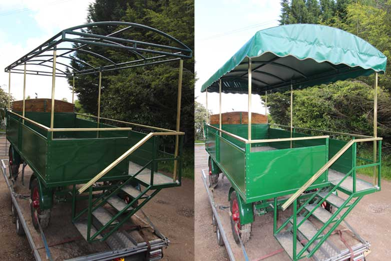 cart canopy before and after