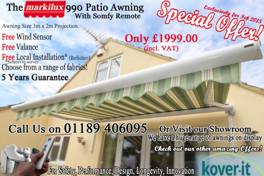 Patio awning special offer