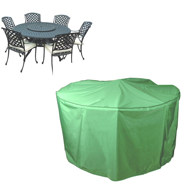 Circular Patio Set Cover 6 8 seat PVC Backed Polyester