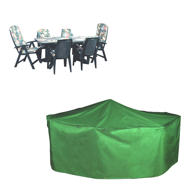 Rectangular Patio Set Cover 6 seat PVC Backed Polyester