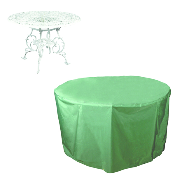 Circular Table Cover - 4 seat, (PVC Backed Polyester)