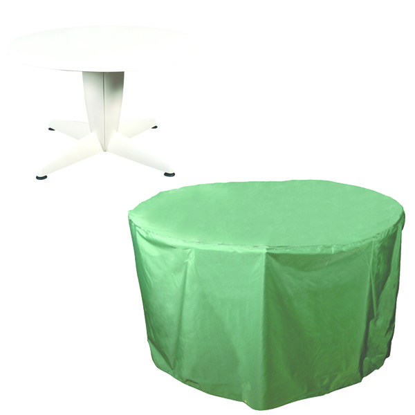Circular Table Cover - 4/6 seat, (PVC Backed Polyester)