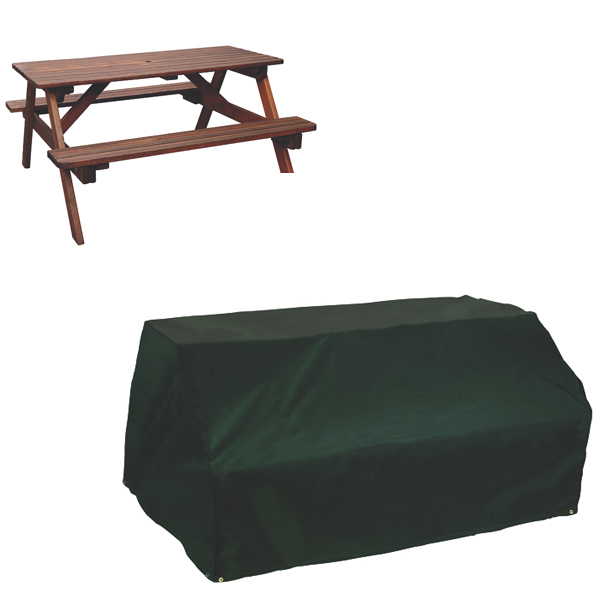 Picnic Table Cover - 6 seat, (PVC Backed Polyester)