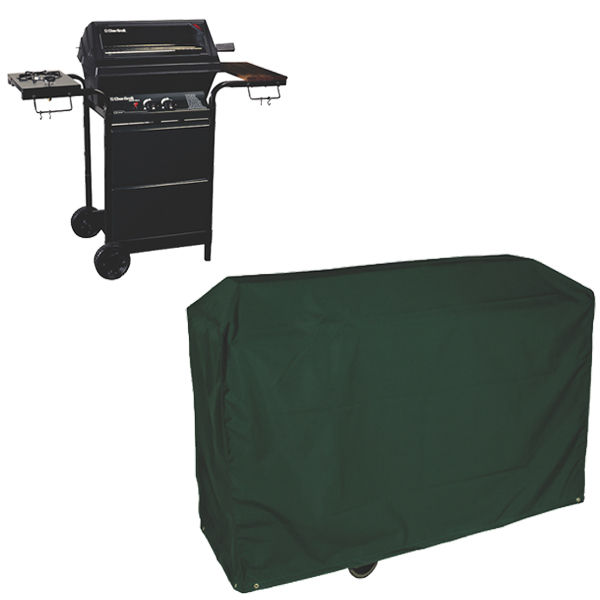 Wagon BBQ Cover, (PVC Backed Polyester)