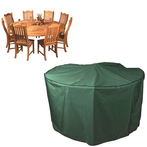 Premier Luxury Circular Patio Set Cover 8 seat Breathable Polyester