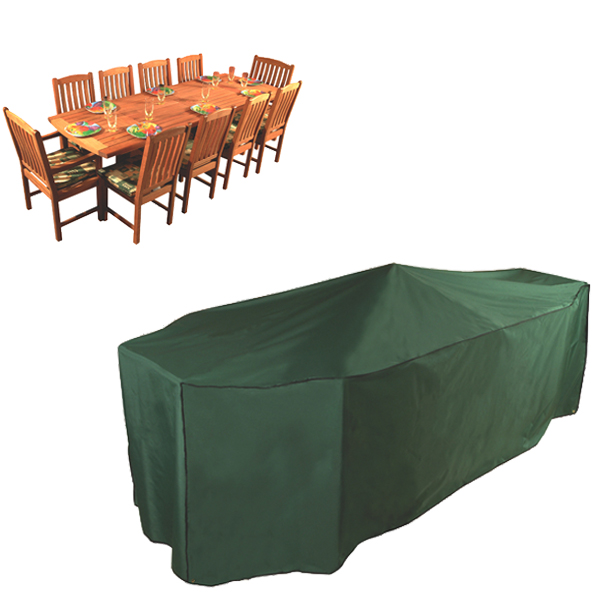 Premier Luxury Rectangular Patio Set Cover 10 Seat Breathable Polyester