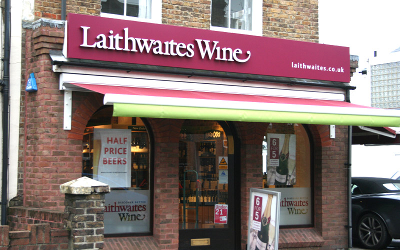 Shop awnings for Laithwaites Wines