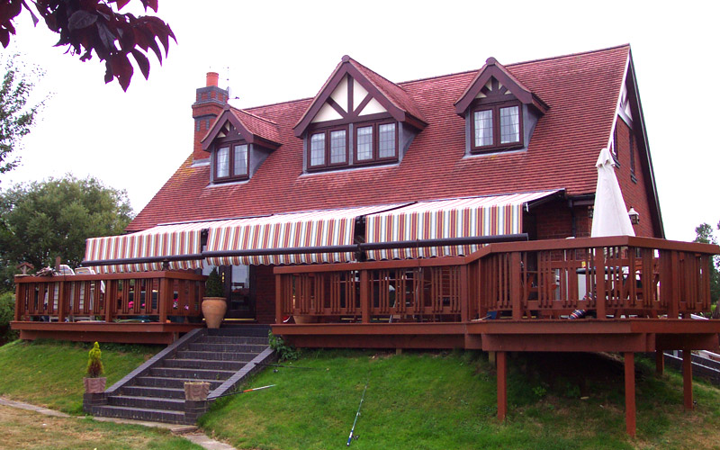 Triple Patio Awnings
