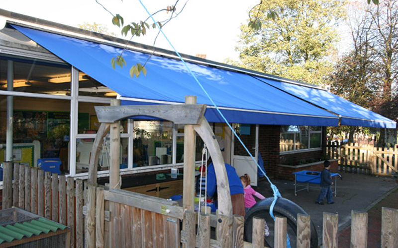 School awnings for outdoor play areas