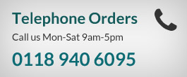 Telephone orders taken Monday to Saturday 9am to 5pm - 0118 940 6095