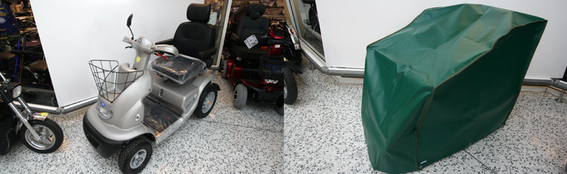Custom made mobility scooter cover
