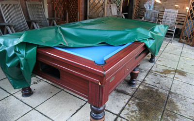 Custom made pool table cover by Kover-it
