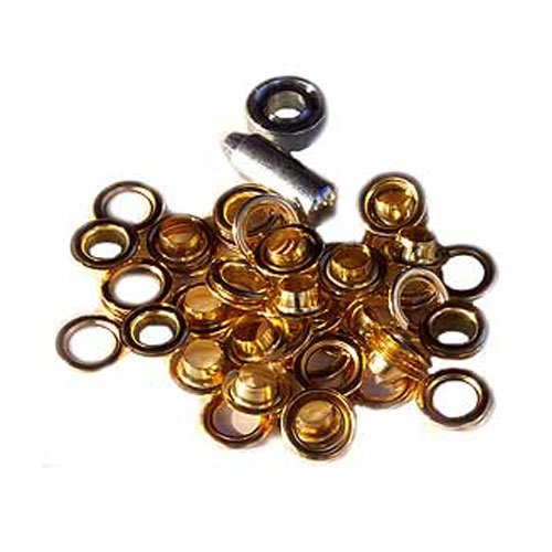 "Eyelet Kit with Punch and Die qty15, (Brass 1/2"")"